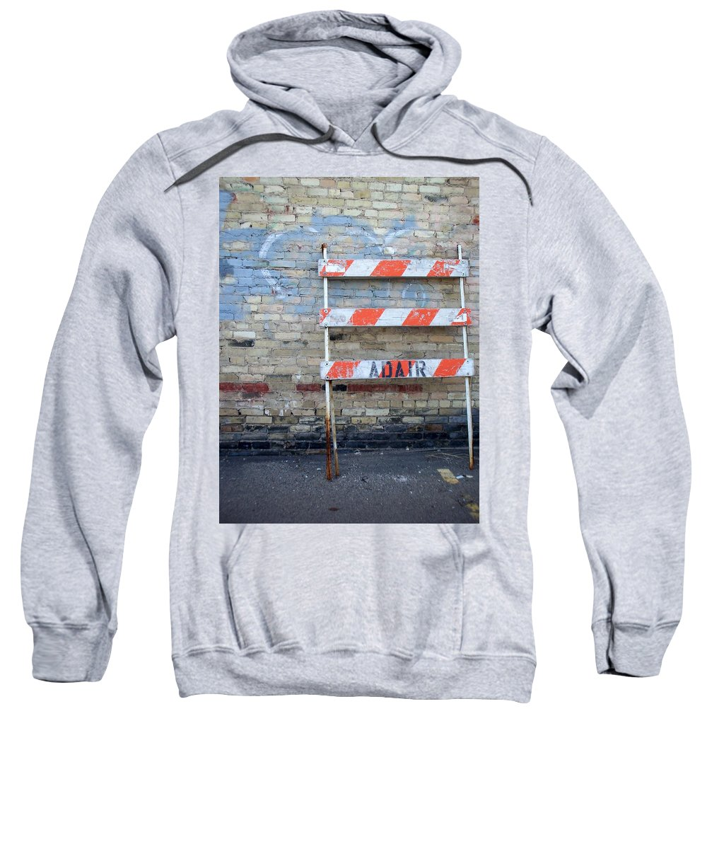 Industrial Sweatshirt featuring the photograph Abstract Brick 1 by Anita Burgermeister