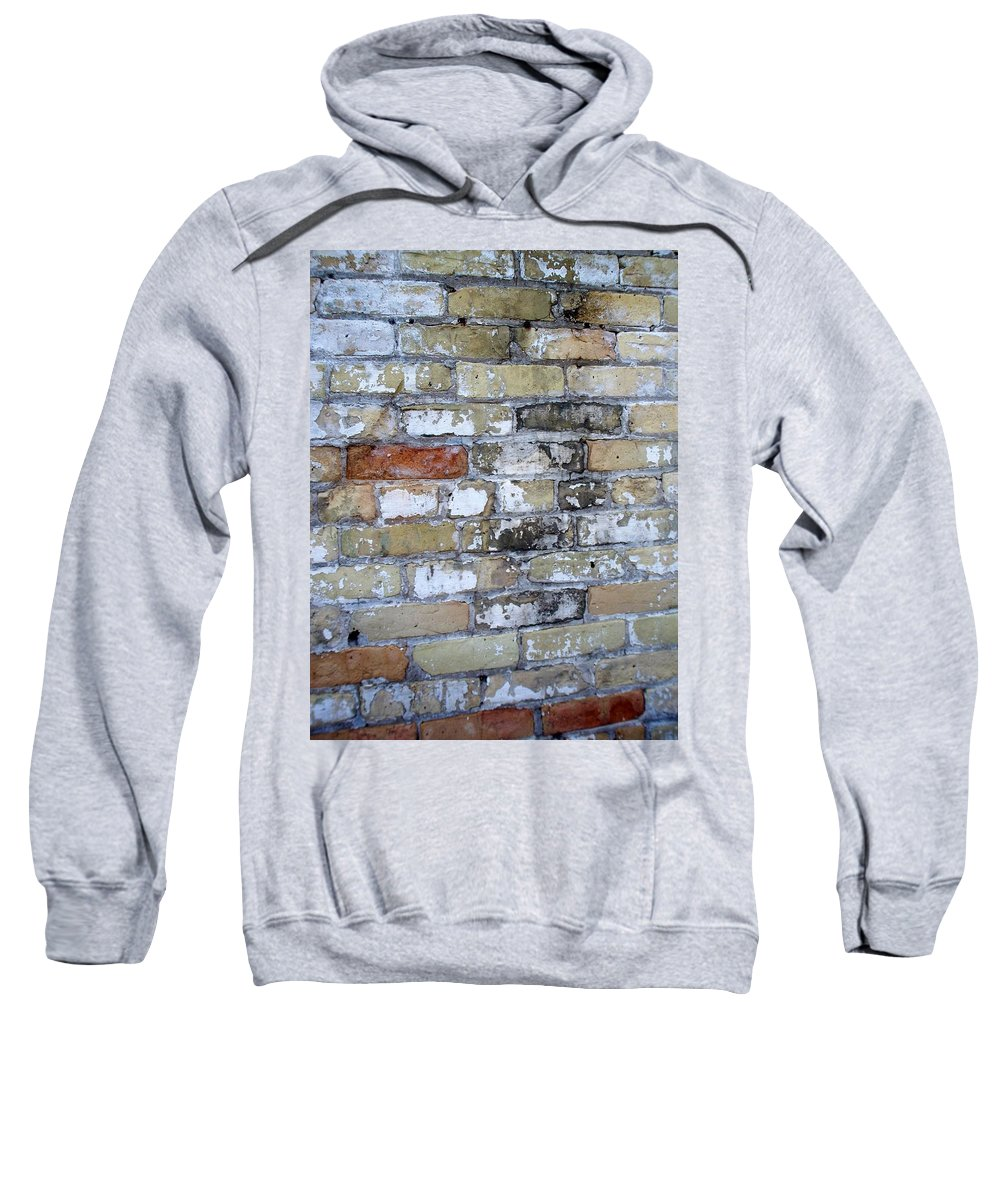 Industrial Sweatshirt featuring the photograph Abstract Brick 10 by Anita Burgermeister