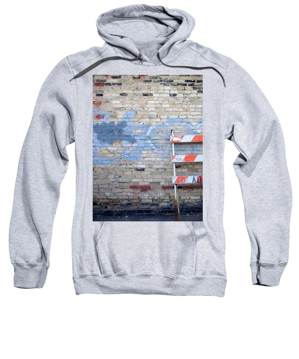 Industrial Sweatshirt featuring the photograph Abstract Brick 2 by Anita Burgermeister