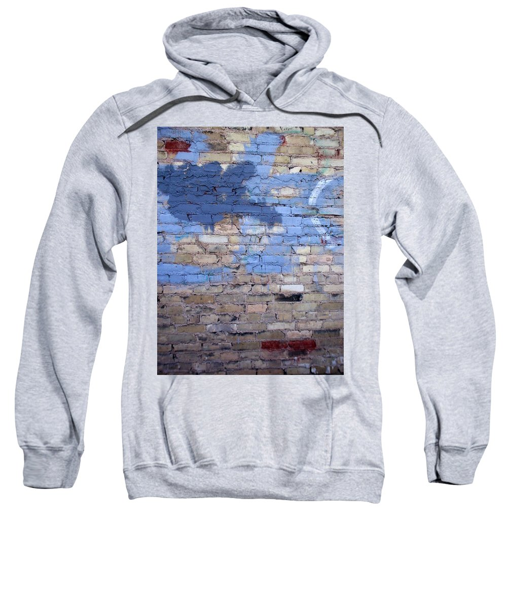 Industrial Sweatshirt featuring the photograph Abstract Brick 3 by Anita Burgermeister