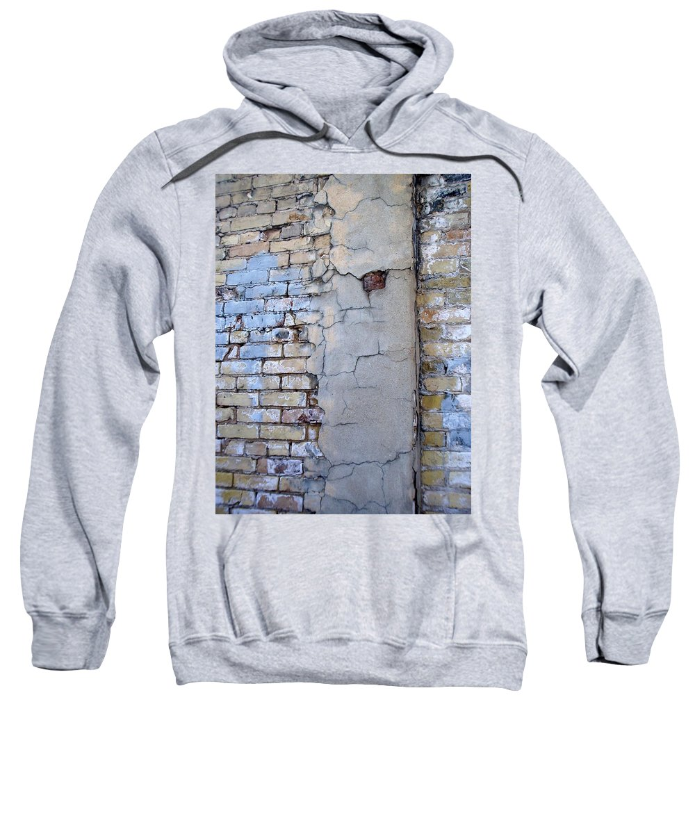 Industrial Sweatshirt featuring the photograph Abstract Brick 4 by Anita Burgermeister