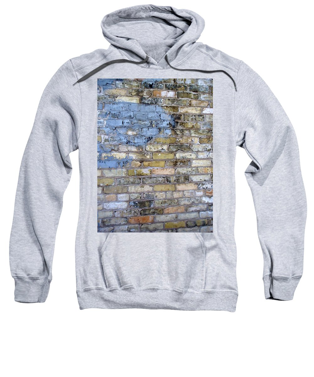 Industrial Sweatshirt featuring the photograph Abstract Brick 6 by Anita Burgermeister