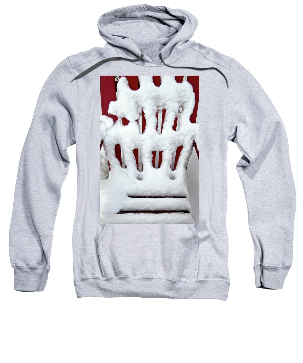 Snow Sweatshirt featuring the photograph Abstract By Nature by Janice Petrella-Walsh