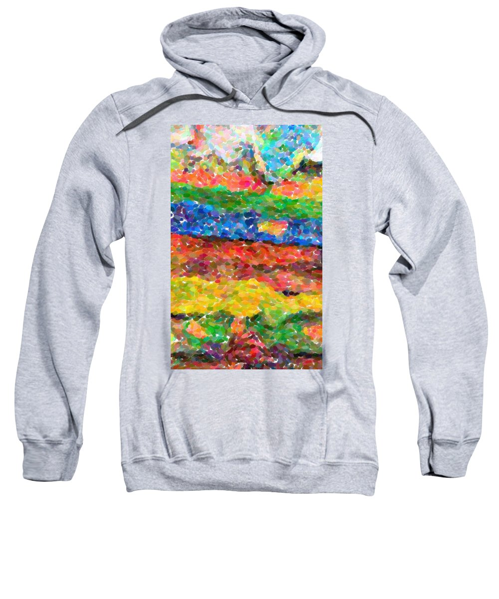 Abstract Sweatshirt featuring the painting Abstract Color Combination Series - No 8 by Celestial Images