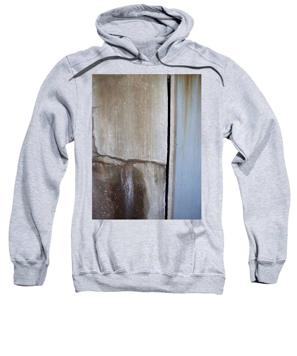Industrial. Urban Sweatshirt featuring the photograph Abstract Concrete 1 by Anita Burgermeister