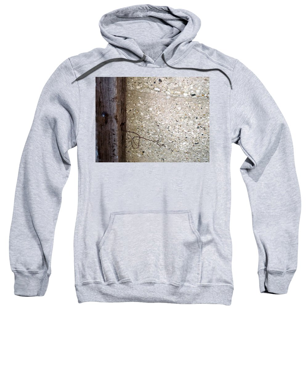 Industrial. Urban Sweatshirt featuring the photograph Abstract Concrete 12 by Anita Burgermeister