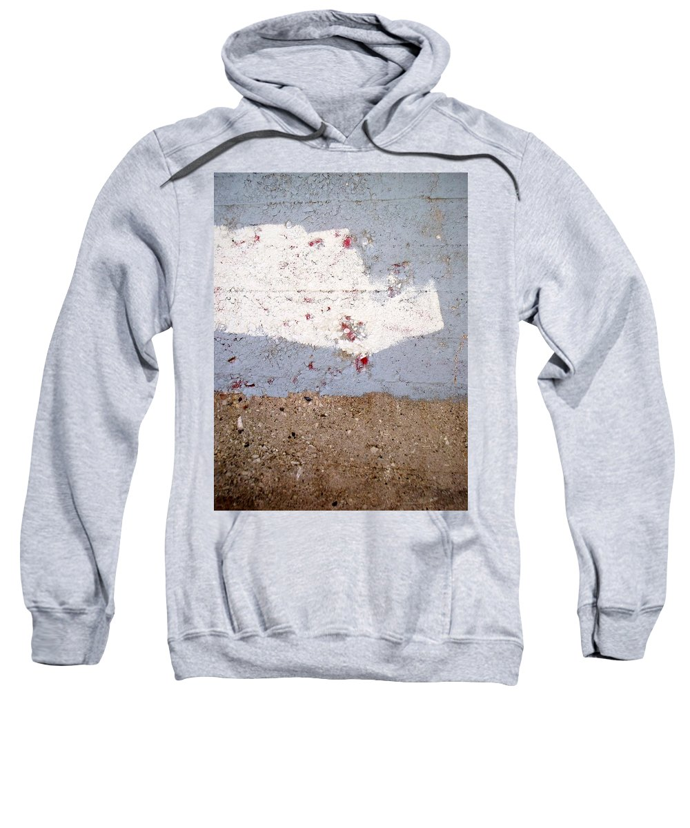Industrial. Urban Sweatshirt featuring the photograph Abstract Concrete 13 by Anita Burgermeister