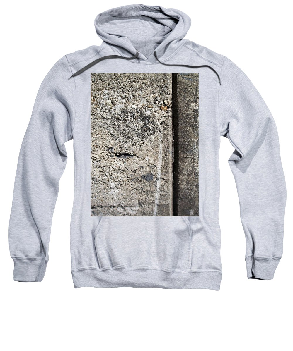Industrial. Urban Sweatshirt featuring the photograph Abstract Concrete 16 by Anita Burgermeister