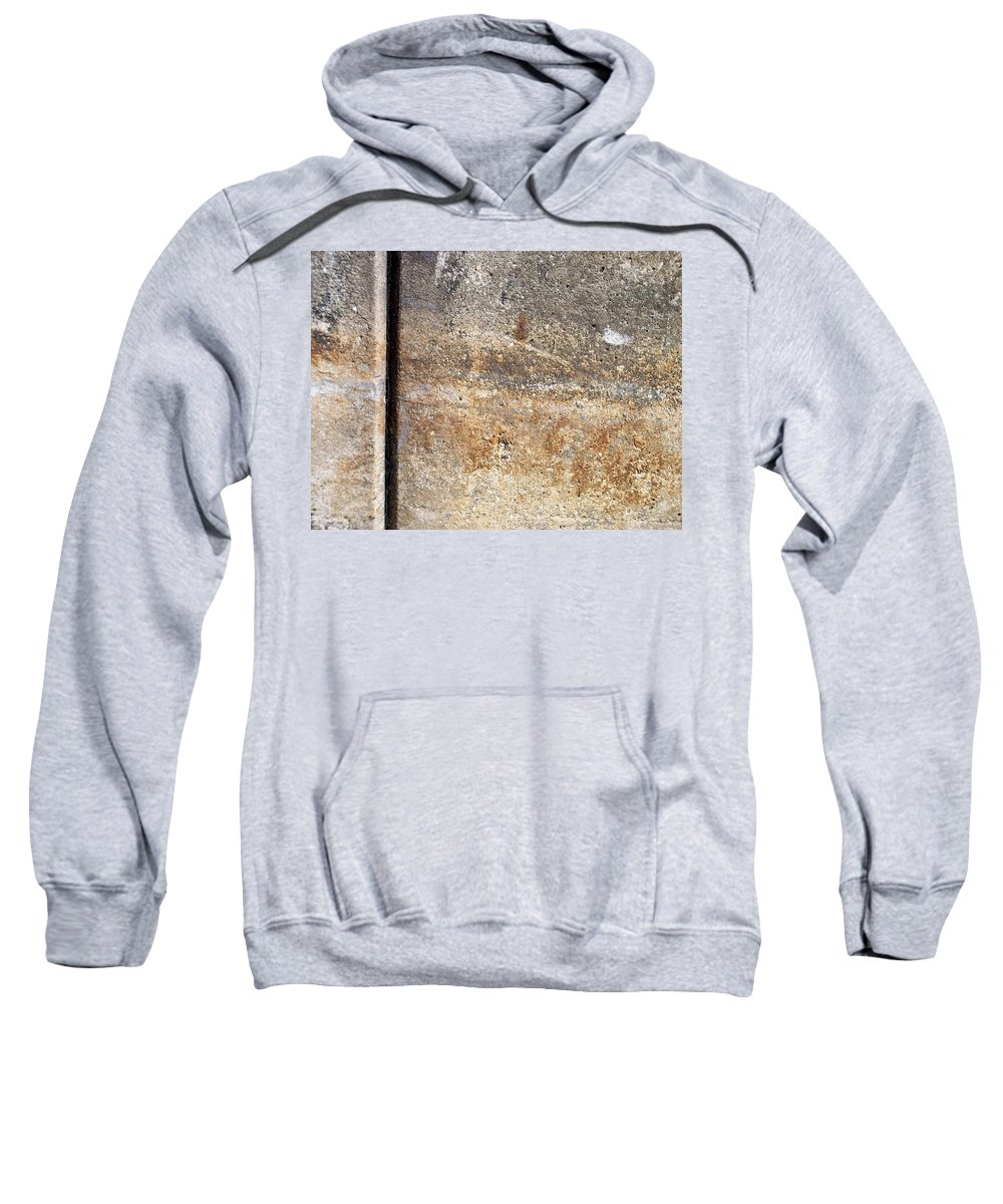 Industrial. Urban Sweatshirt featuring the photograph Abstract Concrete 17 by Anita Burgermeister