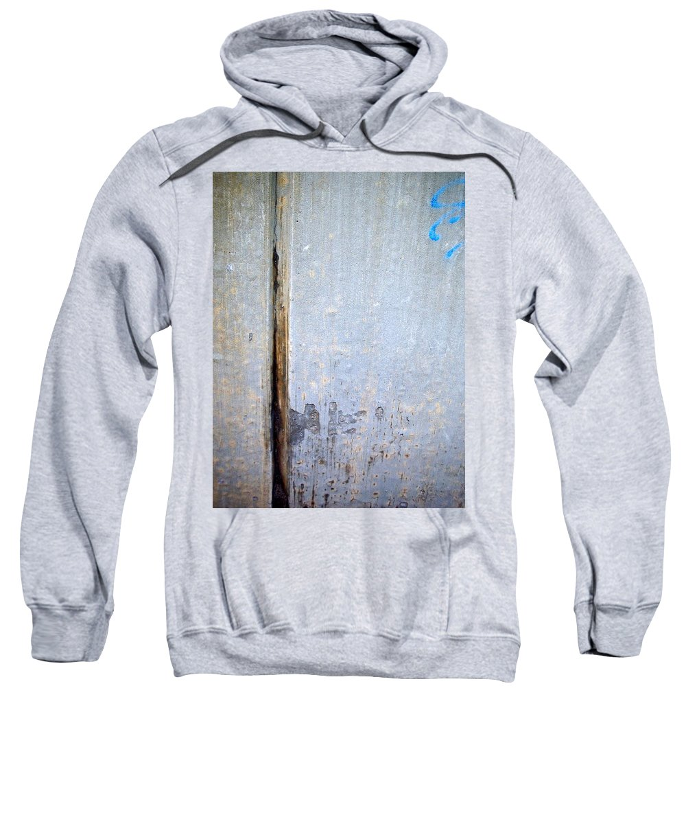 Industrial. Urban Sweatshirt featuring the photograph Abstract Concrete 19 by Anita Burgermeister