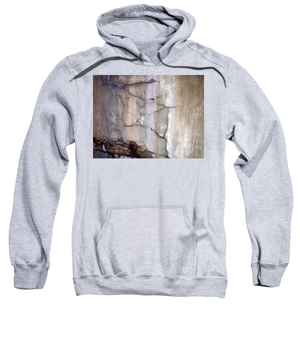 Industrial. Urban Sweatshirt featuring the photograph Abstract Concrete 2 by Anita Burgermeister