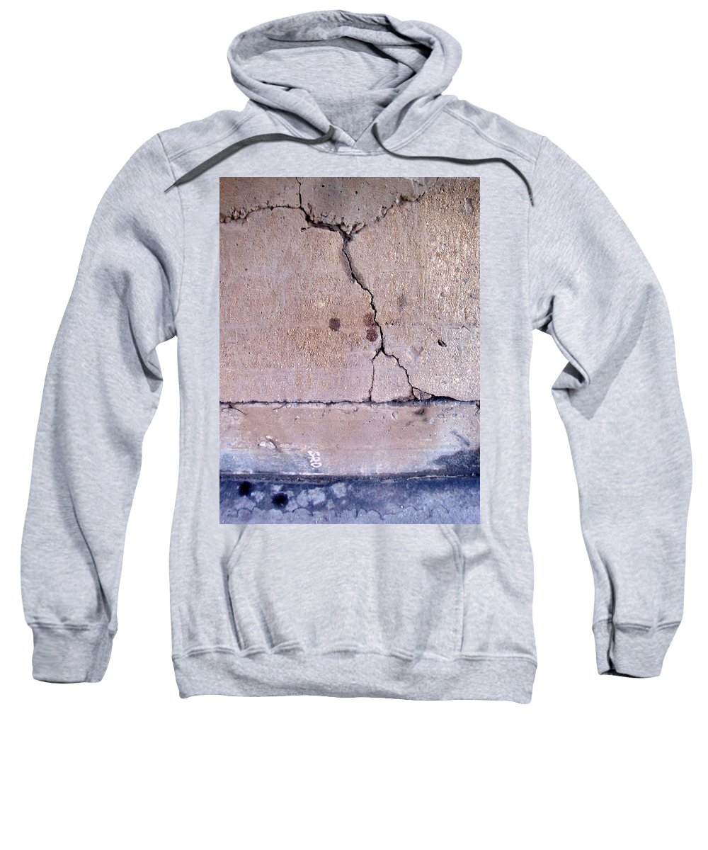 Industrial. Urban Sweatshirt featuring the photograph Abstract Concrete 3 by Anita Burgermeister