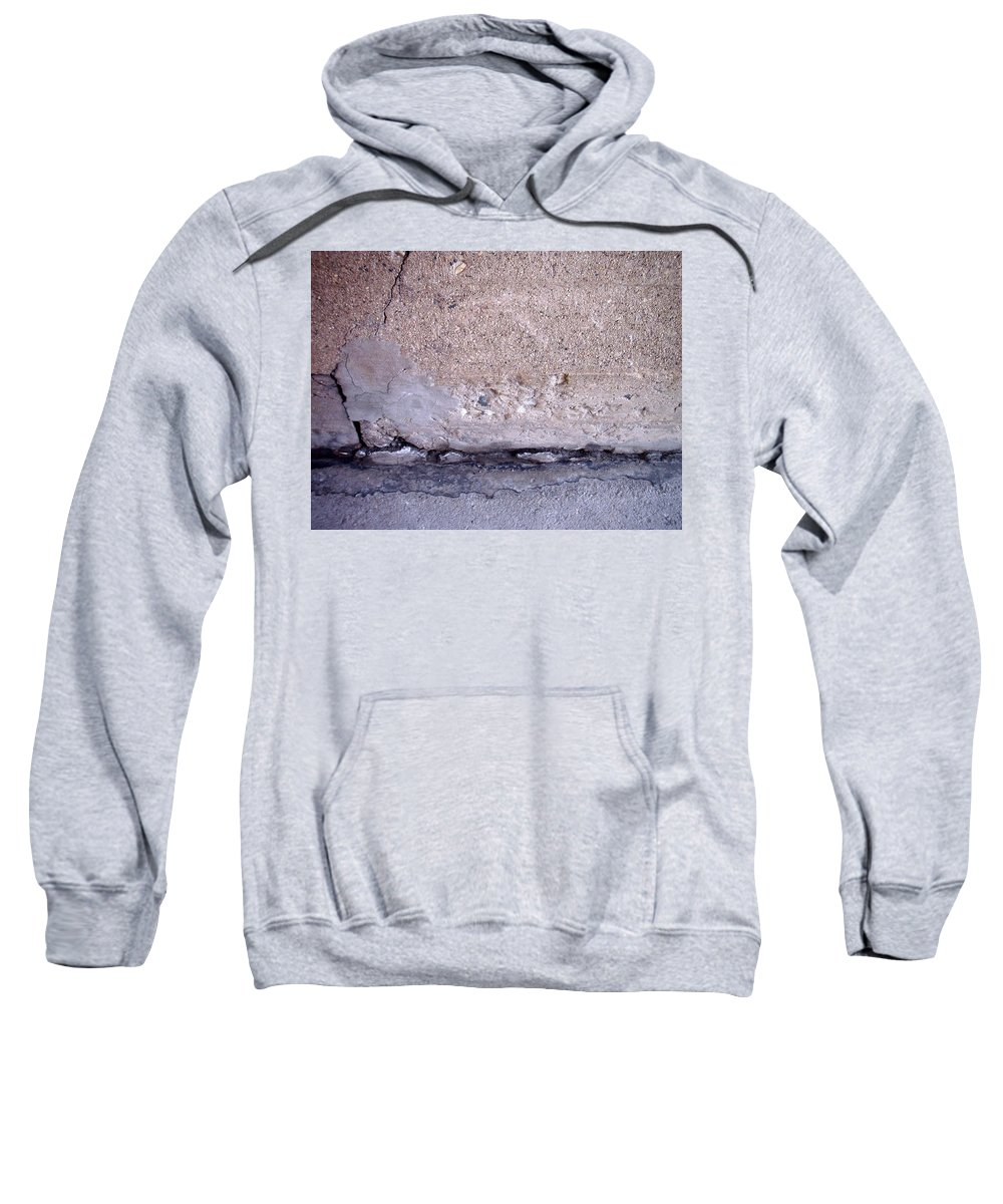 Industrial. Urban Sweatshirt featuring the photograph Abstract Concrete 4 by Anita Burgermeister
