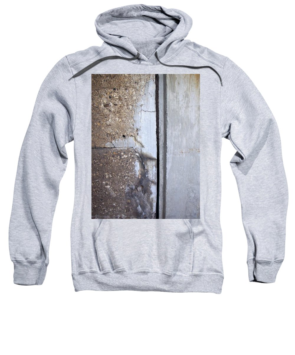 Industrial. Urban Sweatshirt featuring the photograph Abstract Concrete 5 by Anita Burgermeister