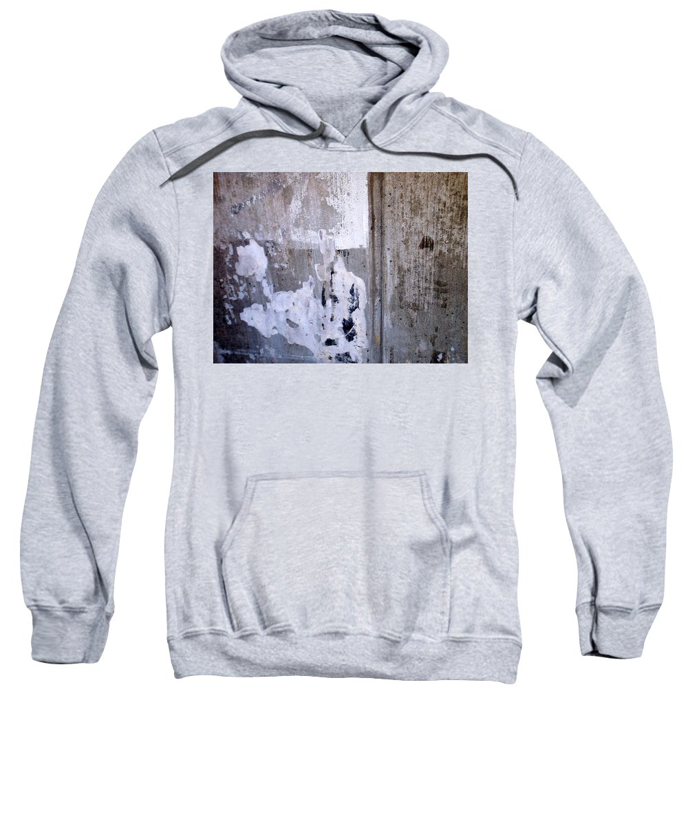 Industrial. Urban Sweatshirt featuring the photograph Abstract Concrete 6 by Anita Burgermeister
