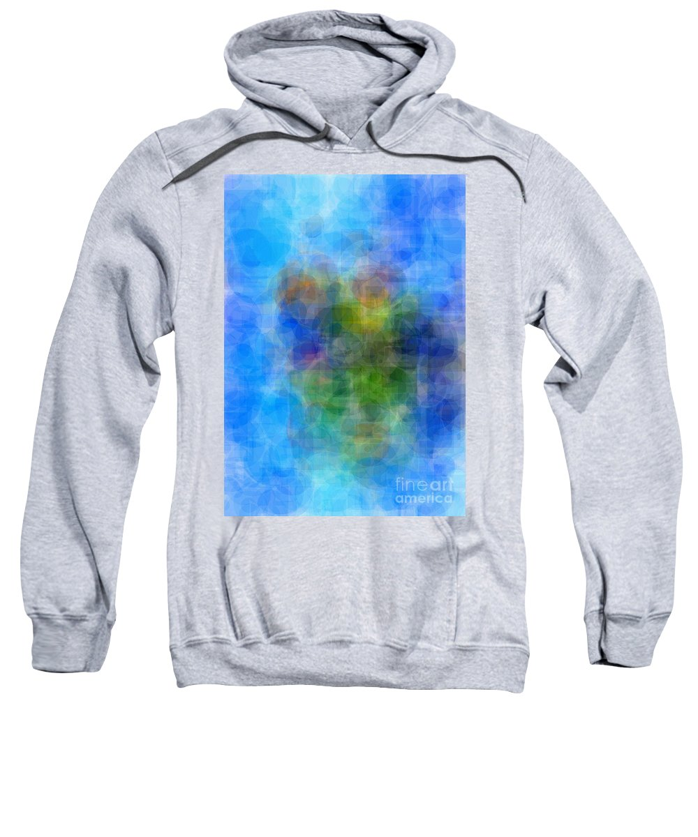 Cubist Sweatshirt featuring the painting Abstract Cubist Interpreation Of My Boats At Rest Painting Available As A Large Stretched Canvas Art by Mary Cahalan Lee- aka PIXI