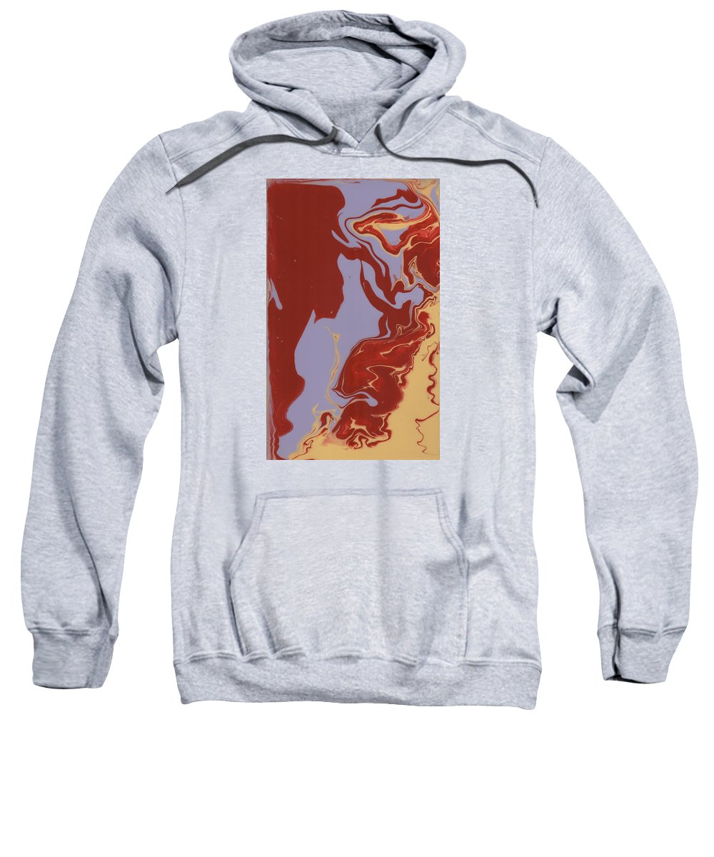 Sweatshirt featuring the painting Abstract Ex by Greg Pitts