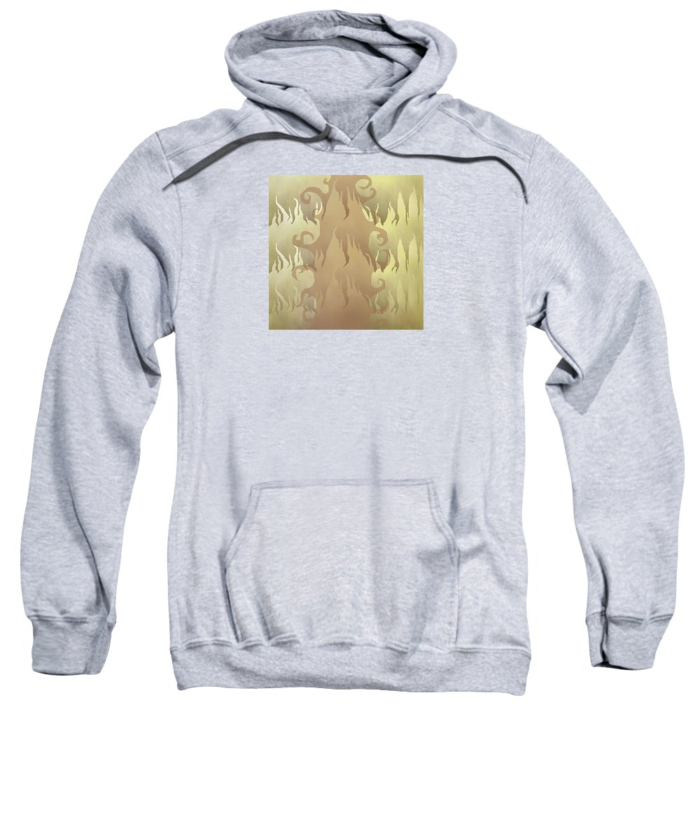Abstract Sweatshirt featuring the digital art Abstract Fire by Lori Wadleigh