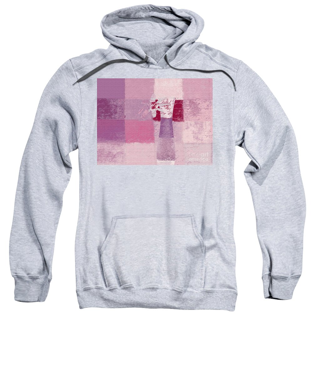 Abstract Sweatshirt featuring the digital art Abstract Floral - 11v3t09 by Variance Collections