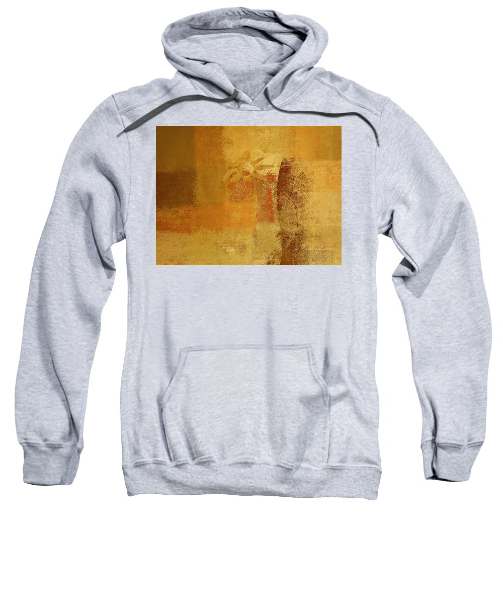 Abstract Sweatshirt featuring the digital art Abstract Floral - 14v2ct01a by Variance Collections