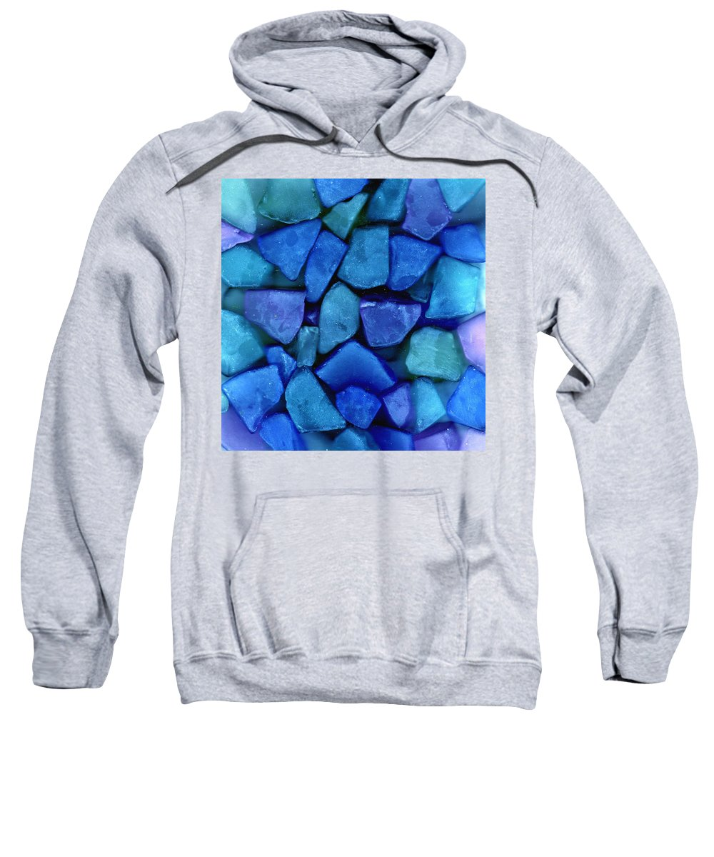 Glass Sweatshirt featuring the photograph Abstract In Glass by Wayne Potrafka