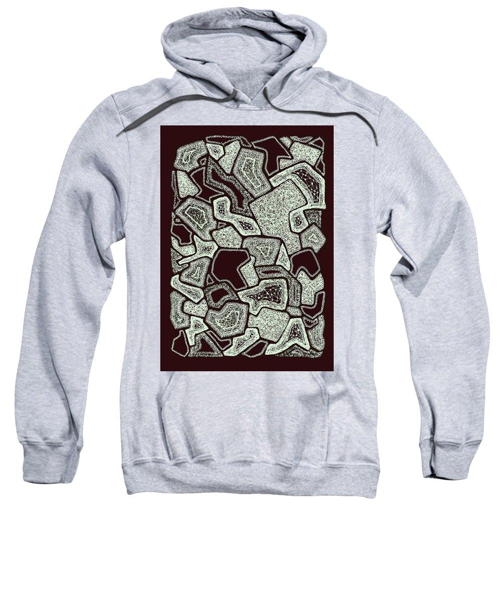Hand Drawn Sweatshirt featuring the digital art Abstract Landscape - Hand Drawn Pattern by Ivan Dinkov