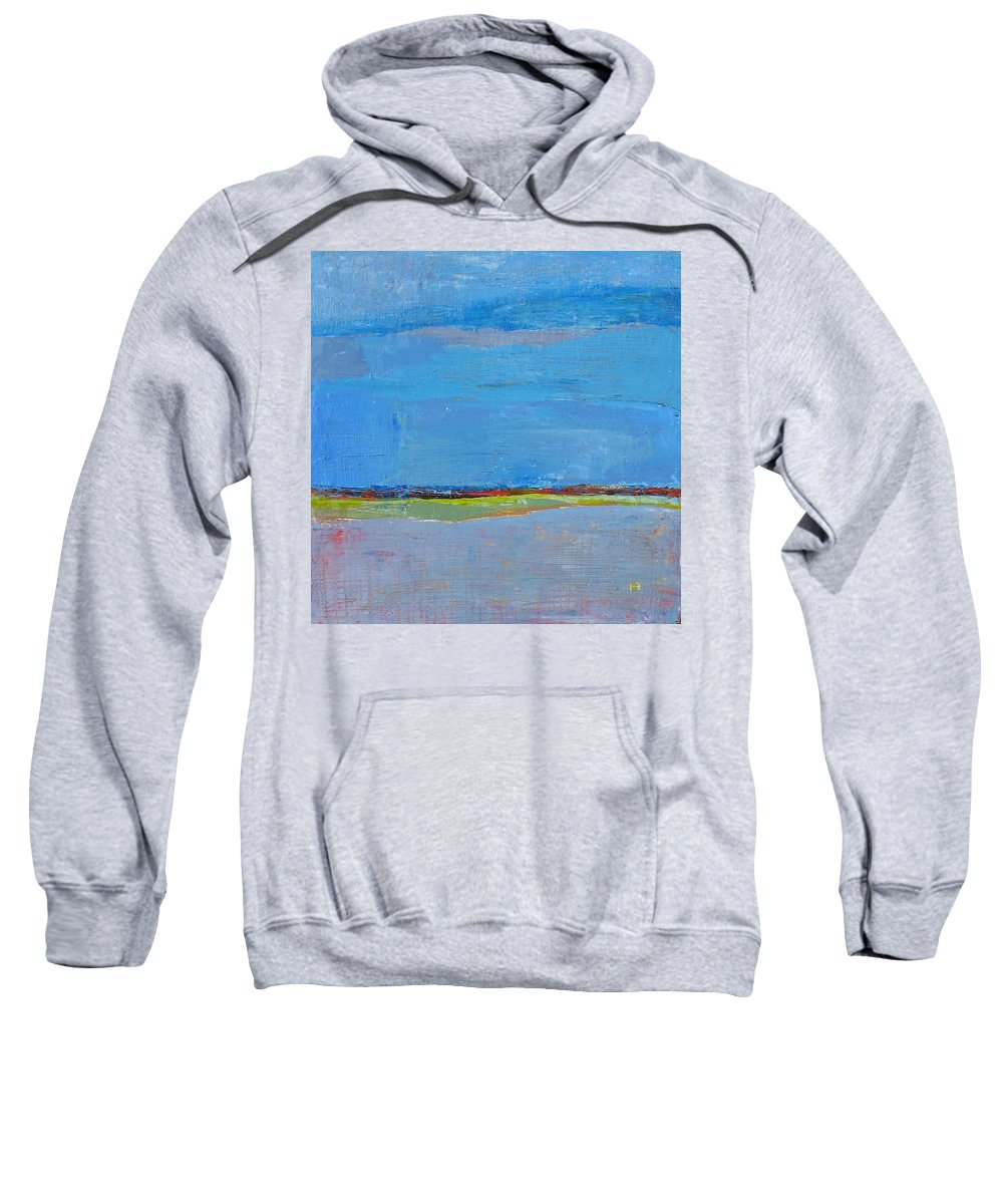 Sweatshirt featuring the painting Abstract Landscape1 by Habib Ayat