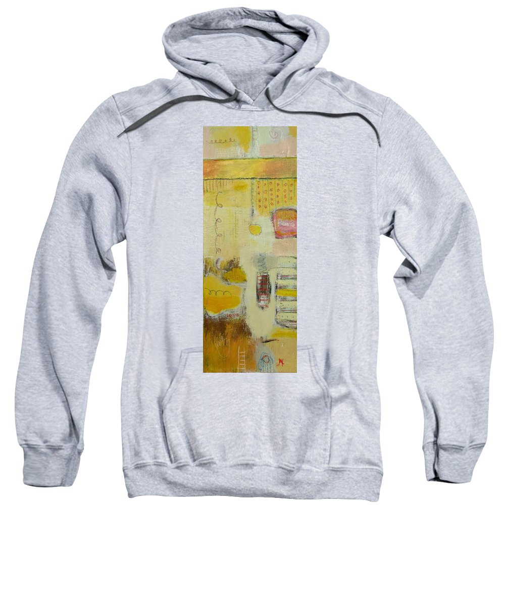Abstract Sweatshirt featuring the painting Abstract Life 1 by Habib Ayat