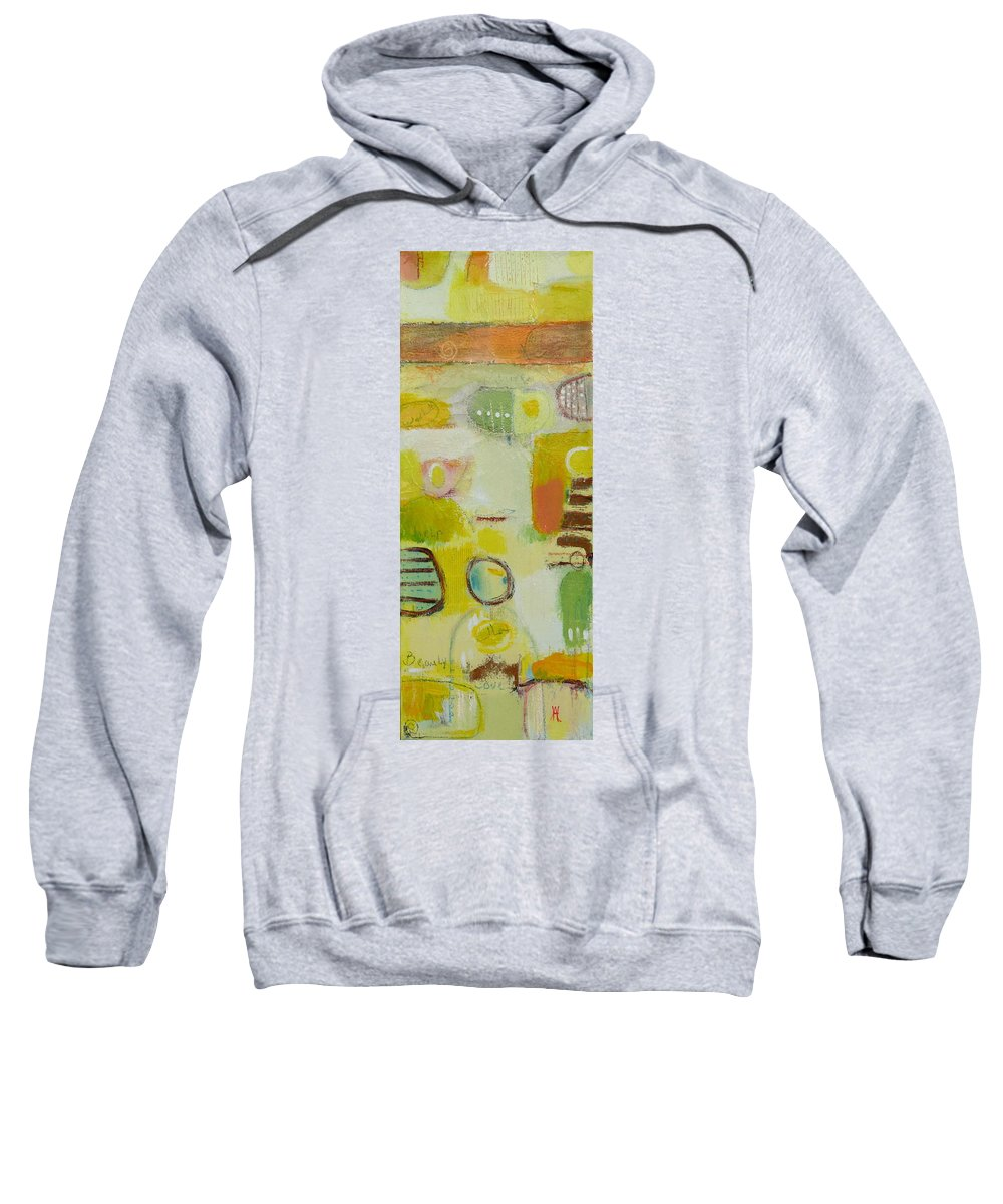 Sweatshirt featuring the painting Abstract Life 2 by Habib Ayat