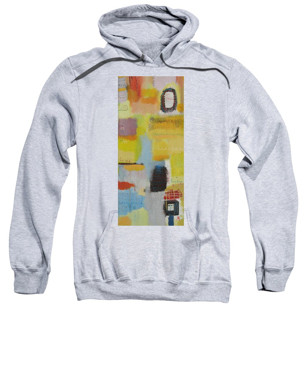 Abstract Sweatshirt featuring the painting Abstract Life 3 by Habib Ayat