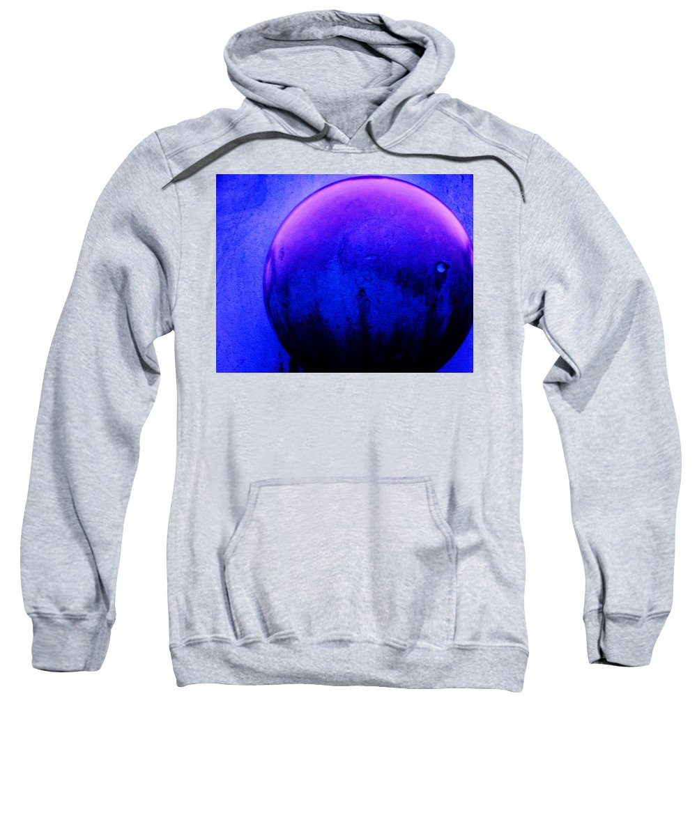 Abstract Sweatshirt featuring the painting Abstract Metal Ball by Eric Schiabor