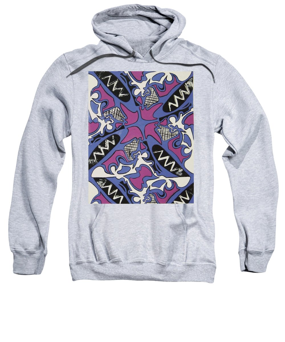 Pattern Sweatshirt featuring the painting Abstract Pattern by Jamey Balester