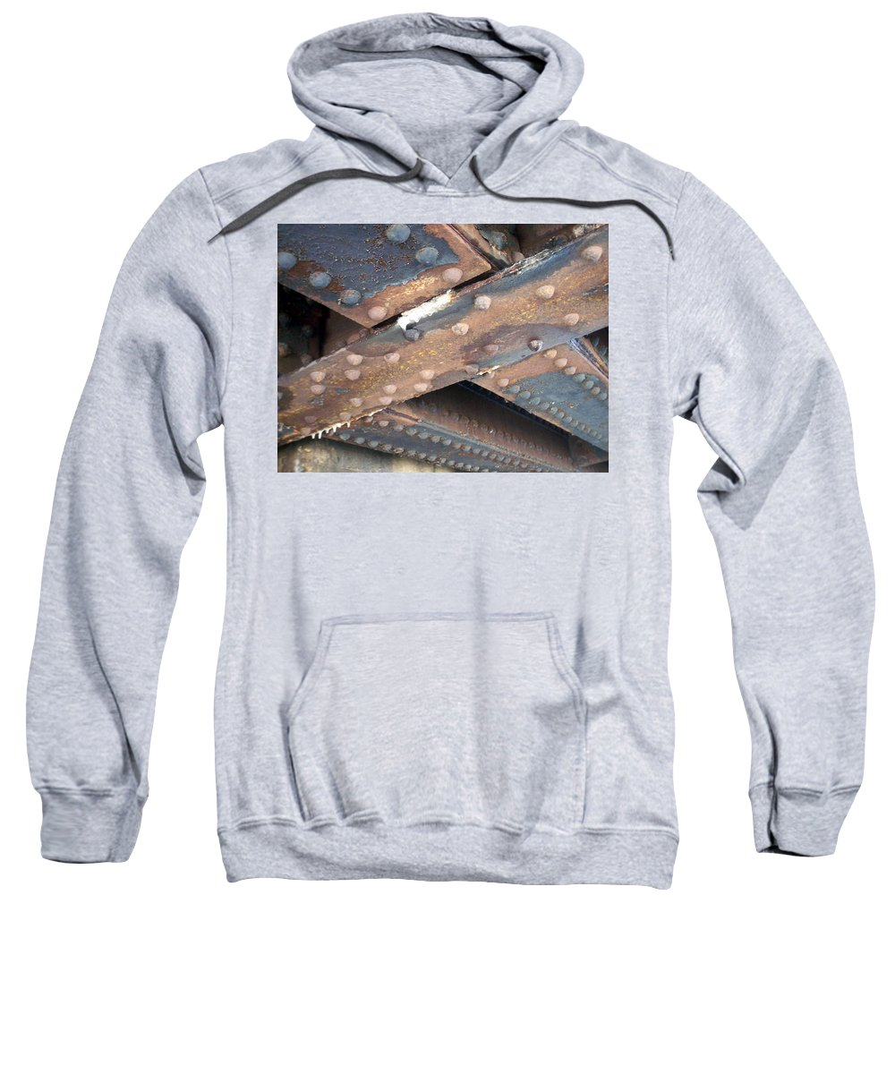 Urban Sweatshirt featuring the photograph Abstract Rust 2 by Anita Burgermeister