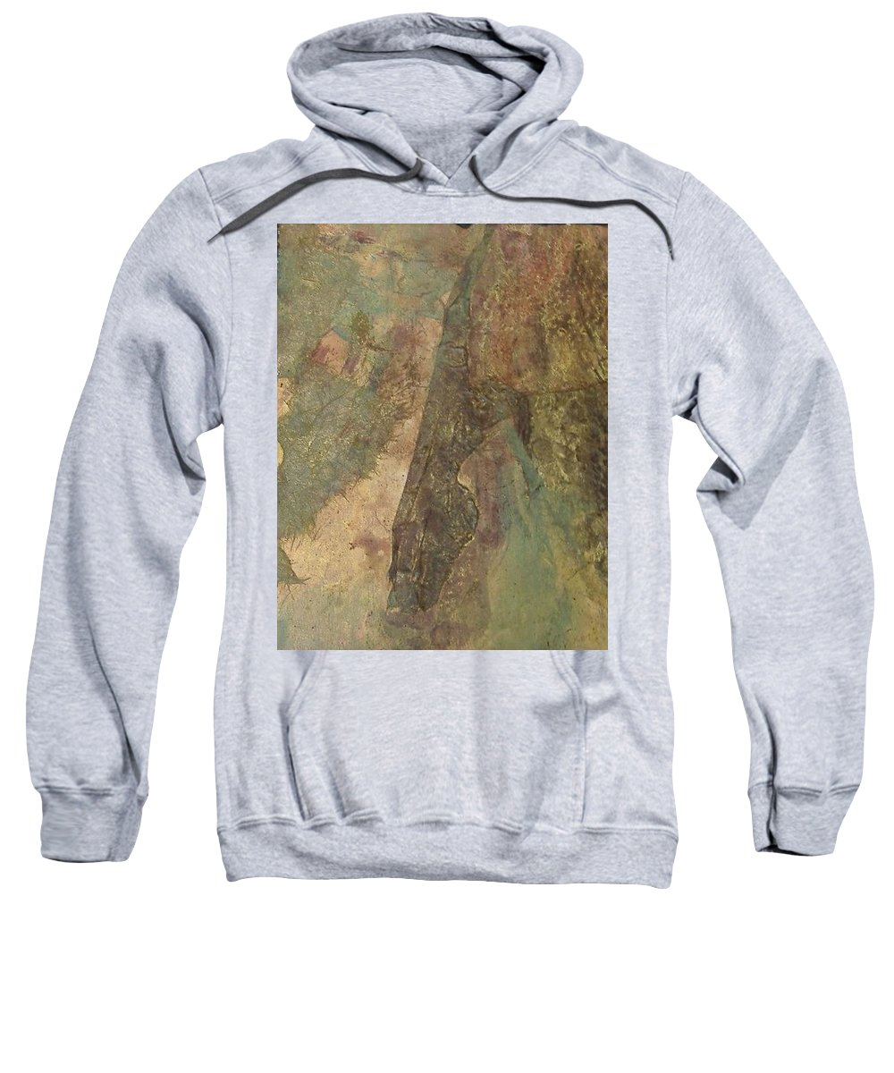 Abstract Sweatshirt featuring the mixed media Abstract Three by Pat Snook