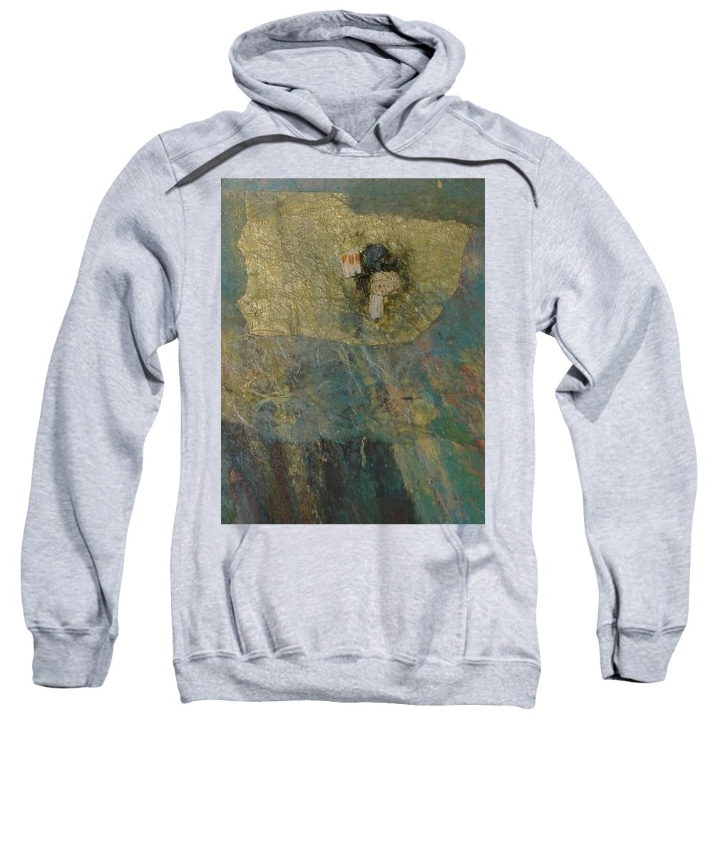 Abstract Sweatshirt featuring the mixed media Abstract Two by Pat Snook