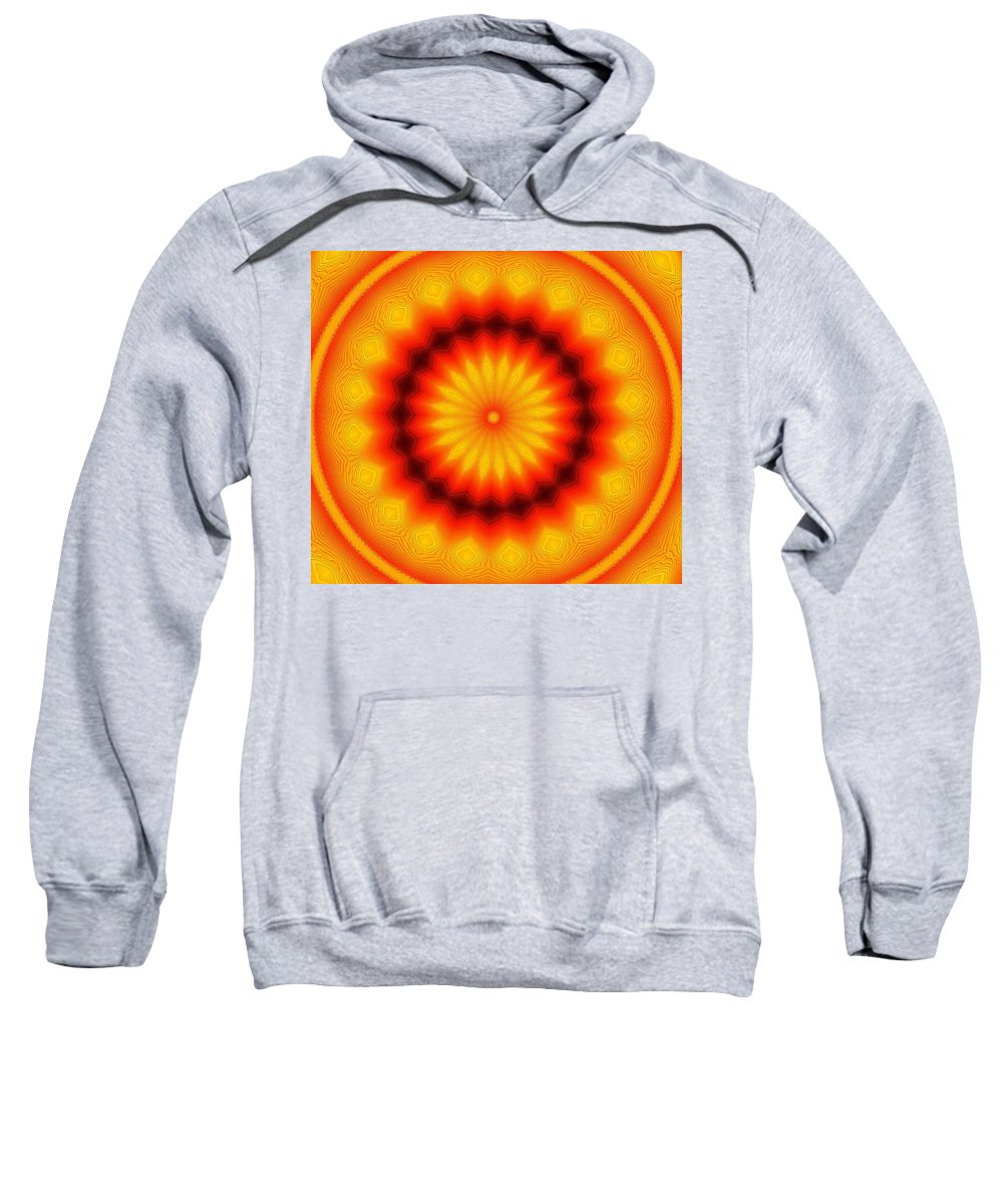 Abstract Sweatshirt featuring the photograph Abstract Xanthous And Black. by Jeff Swan