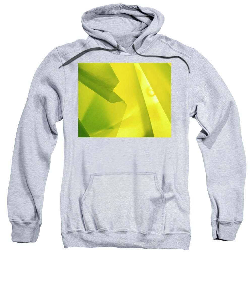 Abstract Sweatshirt featuring the photograph Abstract Yellow And Green by Stefania Levi