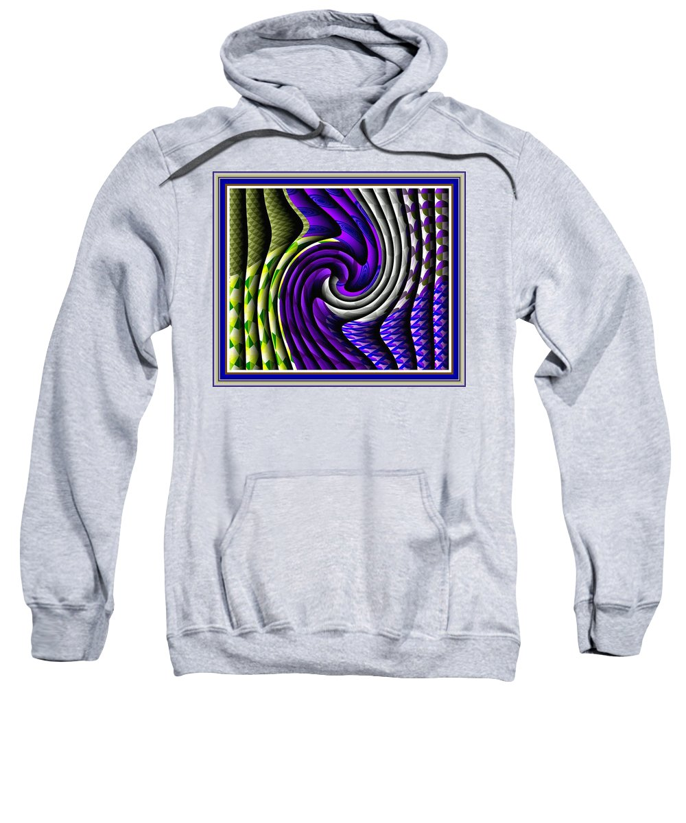 Modern Art Sweatshirt featuring the painting Abstracticalia Swirlia Tessalania Catus 1 No. 1 L B With Decorative Ornate Printed Frame. by Gert J Rheeders