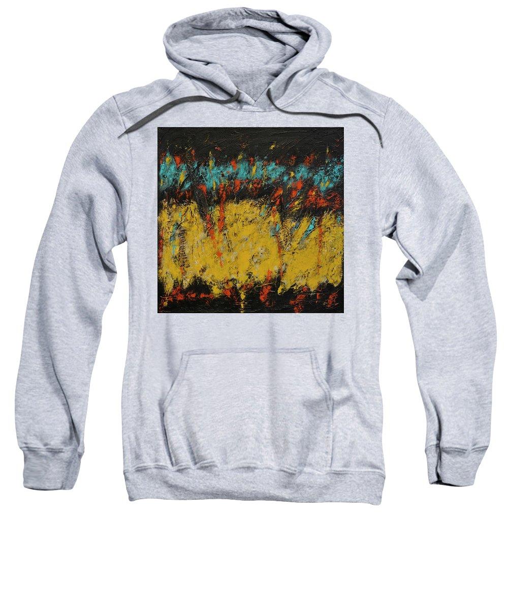 Acrylic Sweatshirt featuring the painting Abundance 2 by Jim Benest