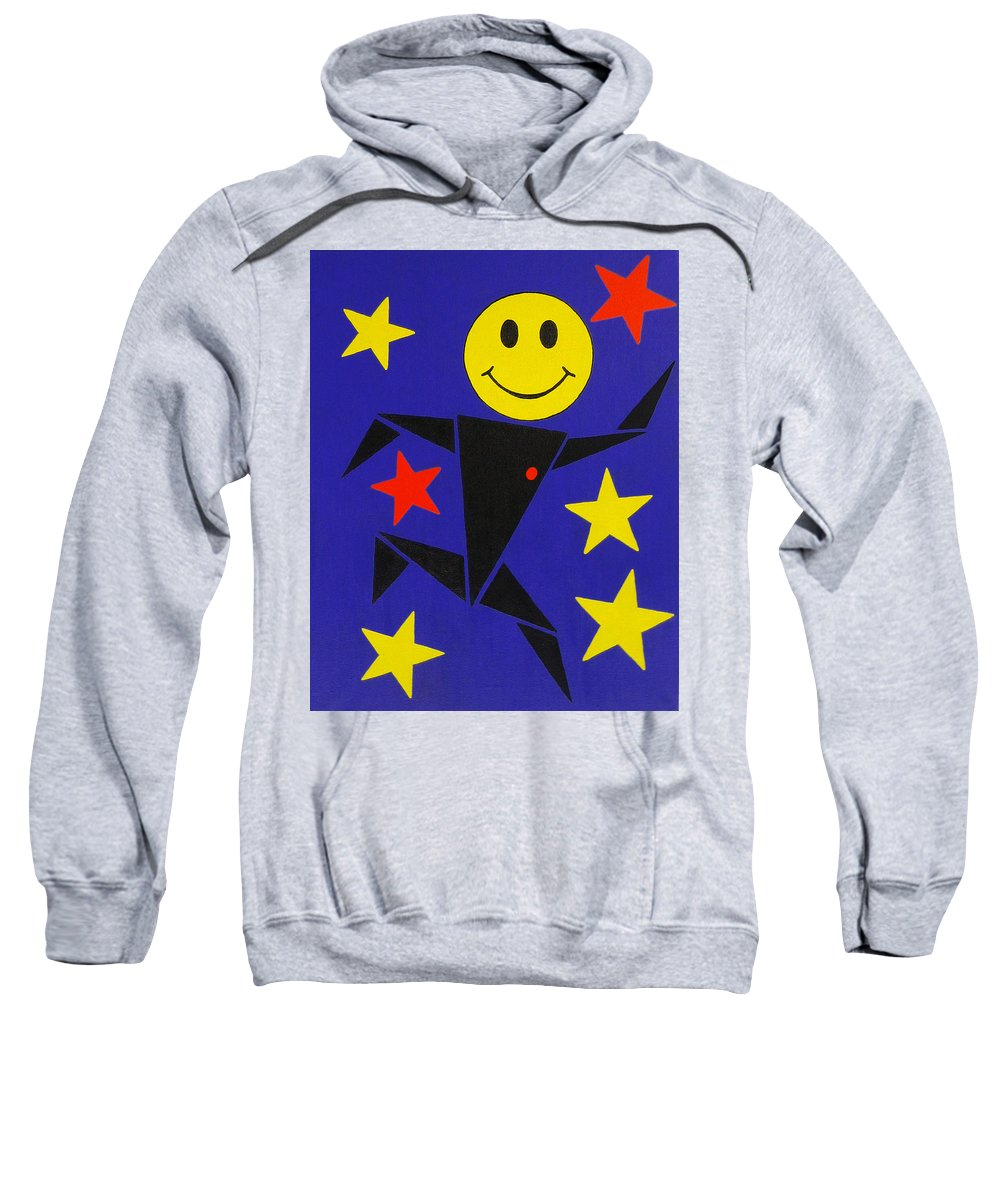 Surreal Sweatshirt featuring the painting Acid Jazz by Oliver Johnston