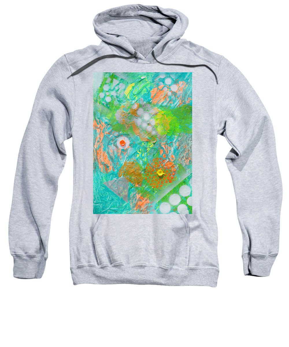 Florescent Sweatshirt featuring the painting Acid Trip Number 2 by Sumit Mehndiratta