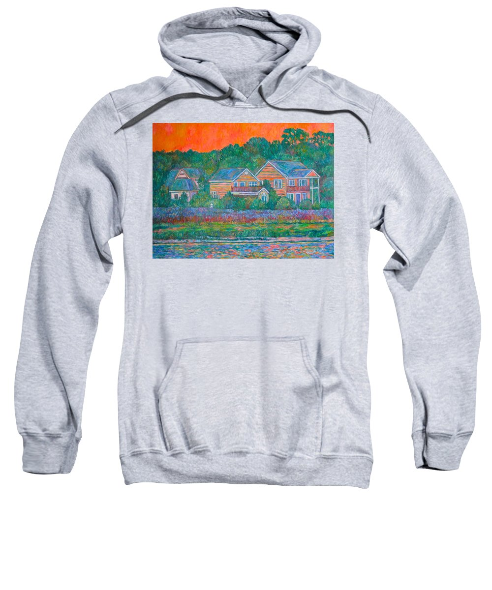 Landscape Sweatshirt featuring the painting Across The Marsh At Pawleys Island    by Kendall Kessler