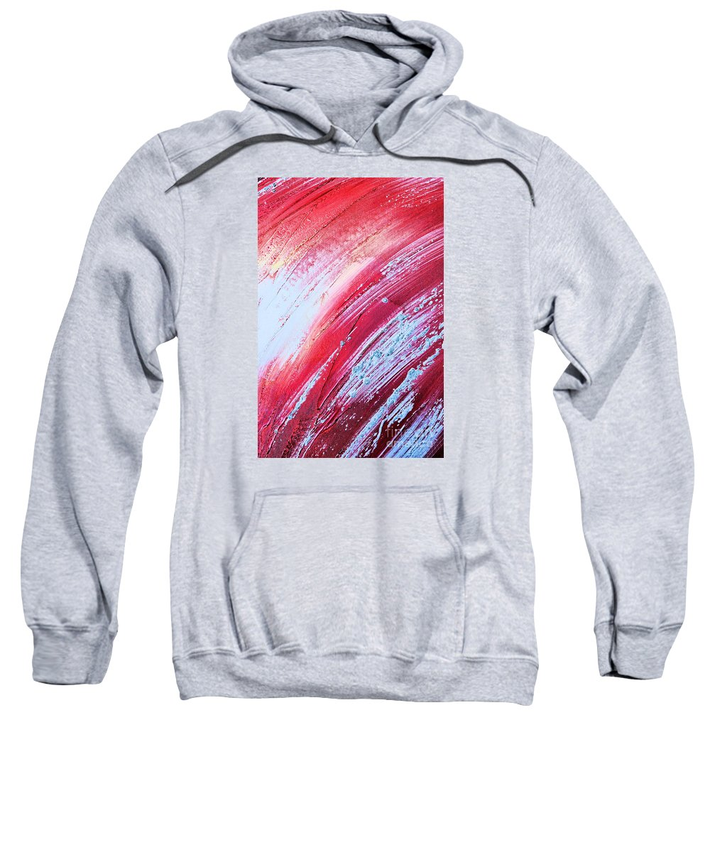 Abstract Sweatshirt featuring the painting Acrylic Abstract On Canvas 6 by Brian Raggatt