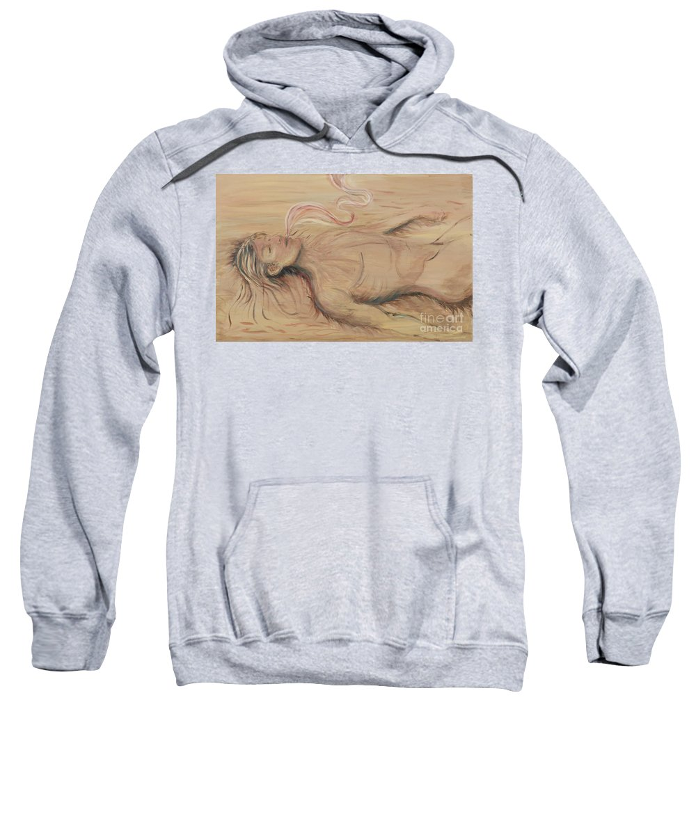 Adam Sweatshirt featuring the painting Adam And The Breath Of God by Nadine Rippelmeyer