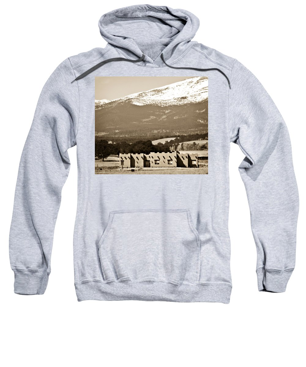 Americana Sweatshirt featuring the photograph Adobe House by Marilyn Hunt
