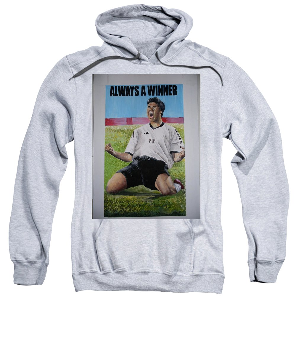 Footballer Sweatshirt featuring the painting Advert Paintographic by Olaoluwa Smith
