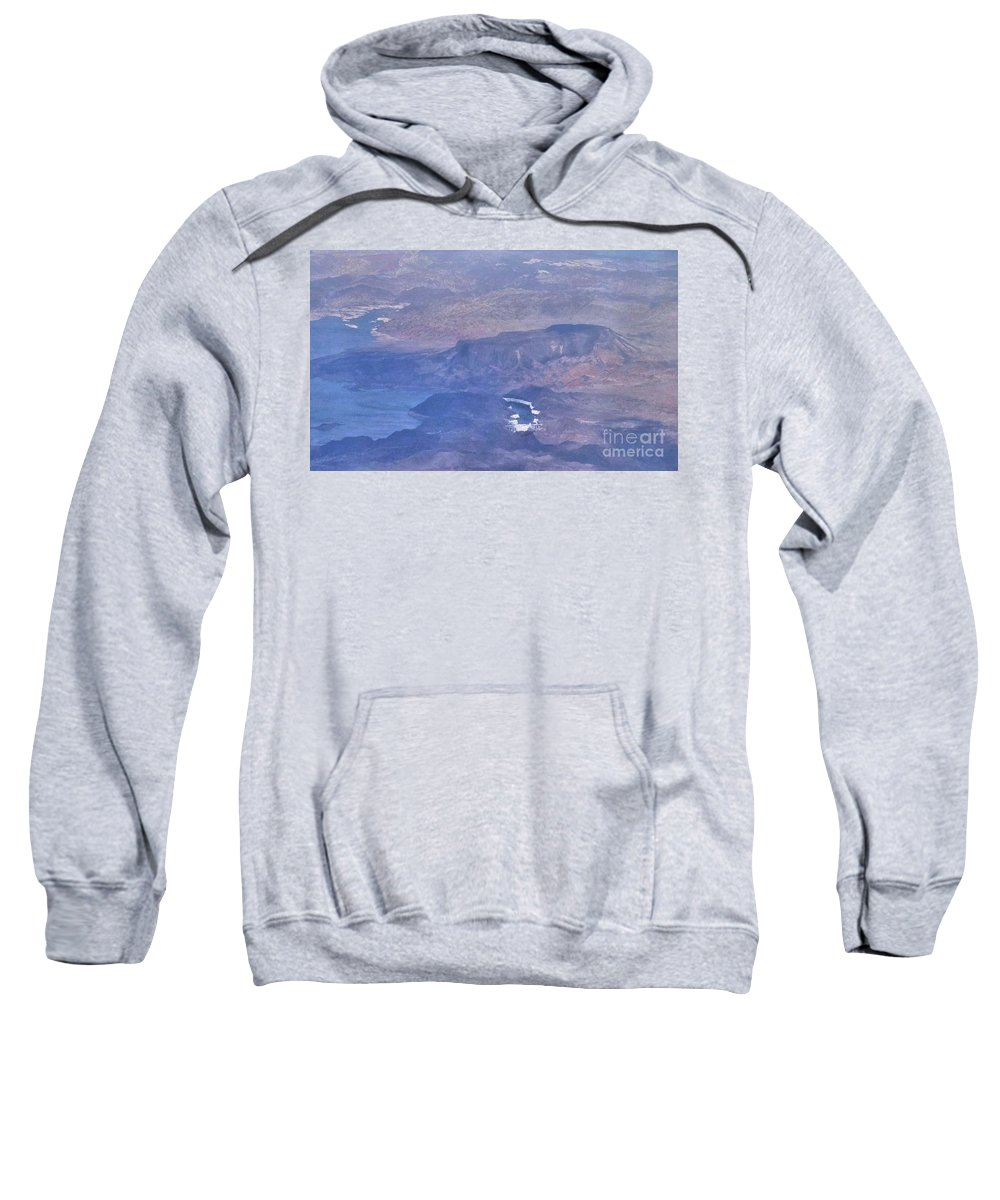 Hoover Dam Sweatshirt featuring the photograph Aerial View Of Hoover Dam by Janette Boyd