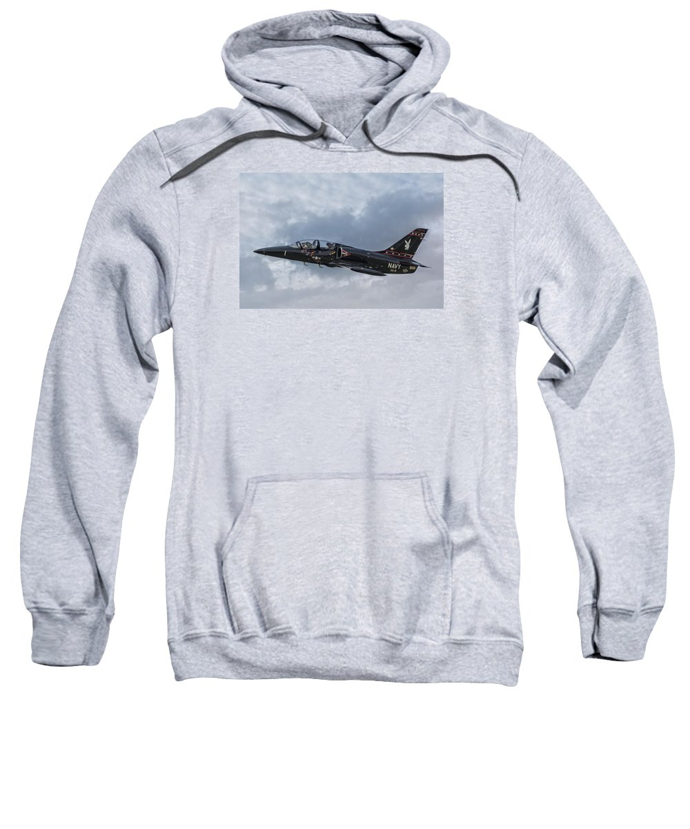 Aero L-39 Albatross Sweatshirt featuring the photograph Aero L-39 Albatross Vandy 1 by Guy Whiteley