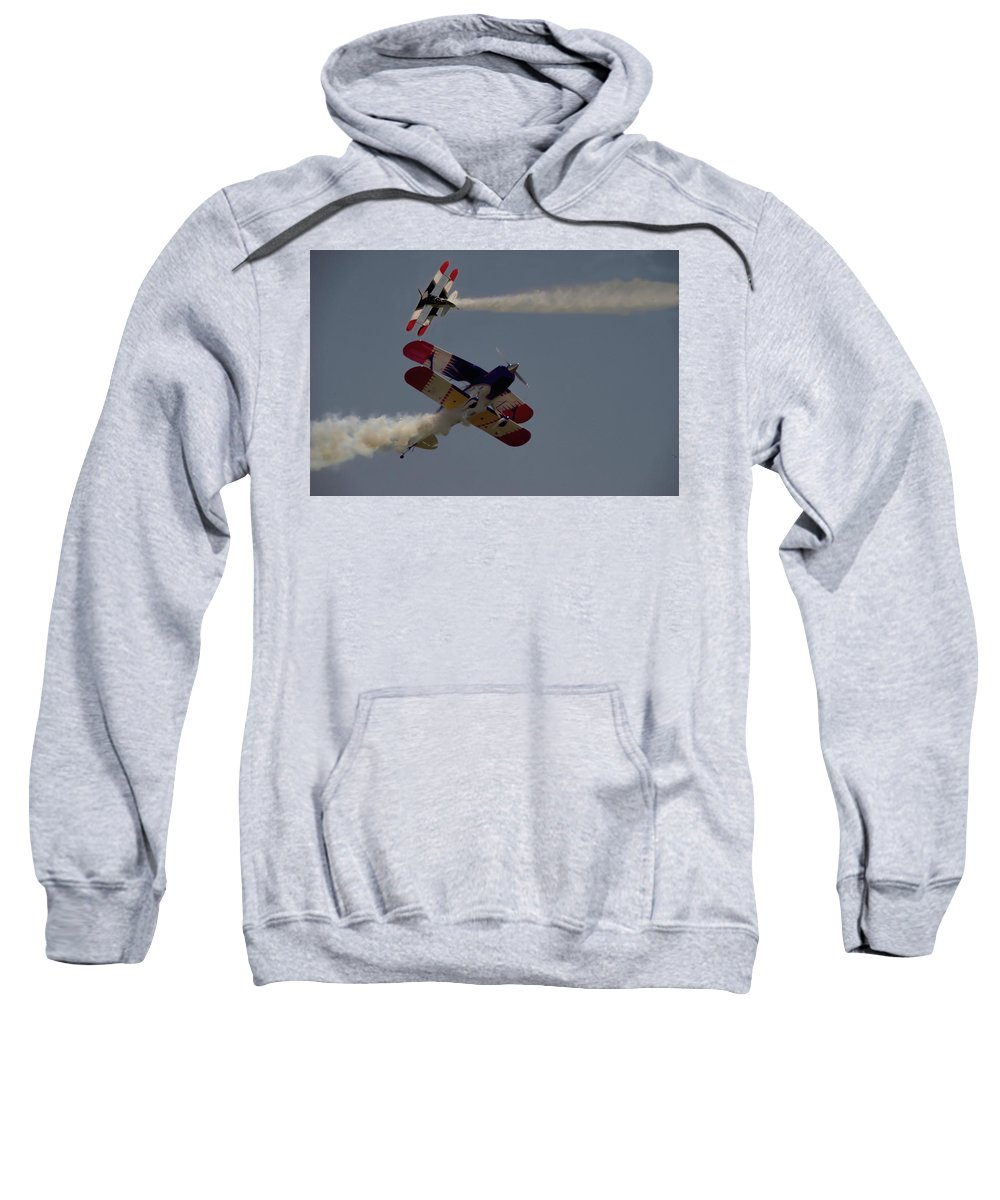 Blue Sweatshirt featuring the photograph Aerobatics V5 by John Straton