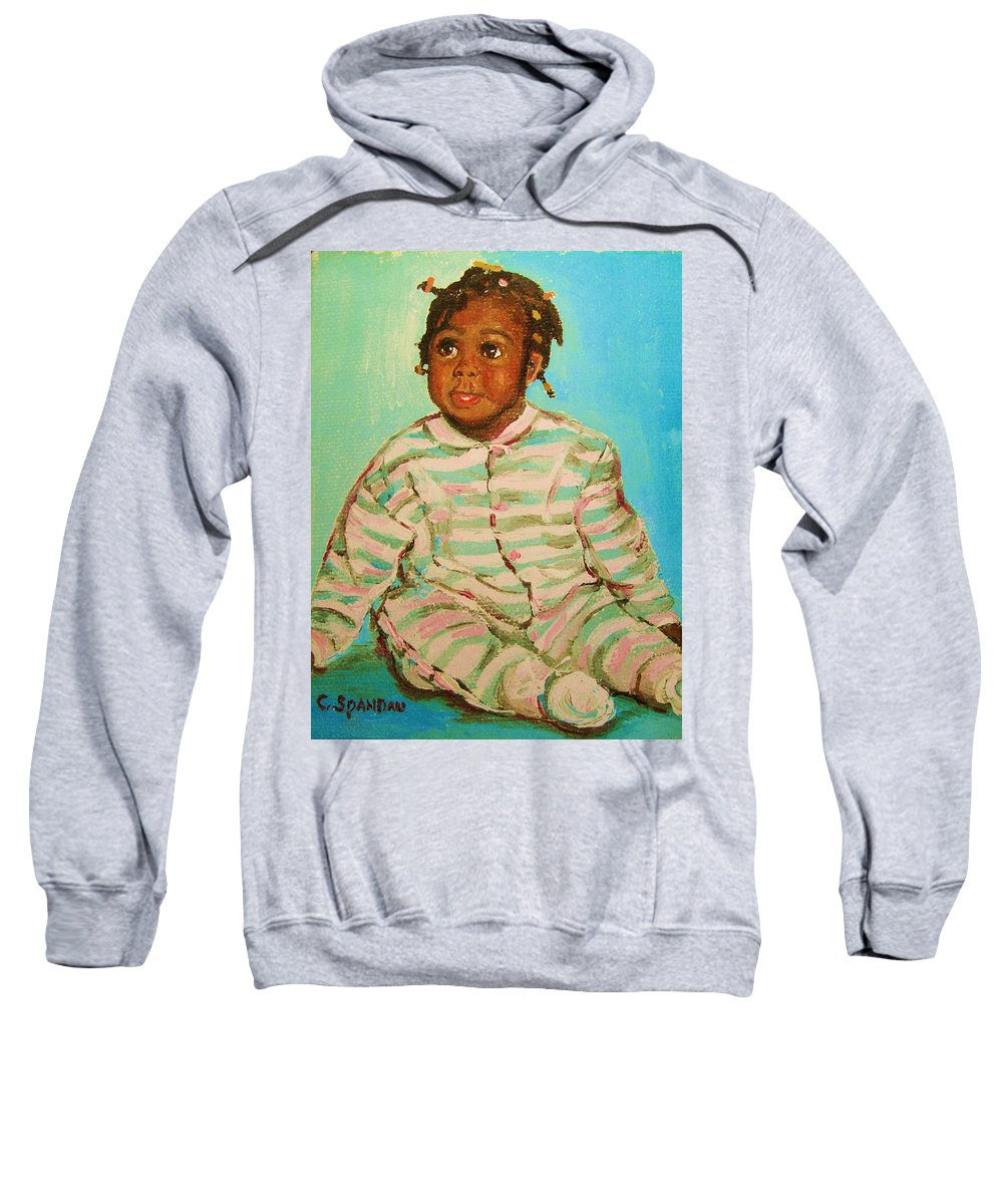 Africa Sweatshirt featuring the painting African Cutie by Carole Spandau